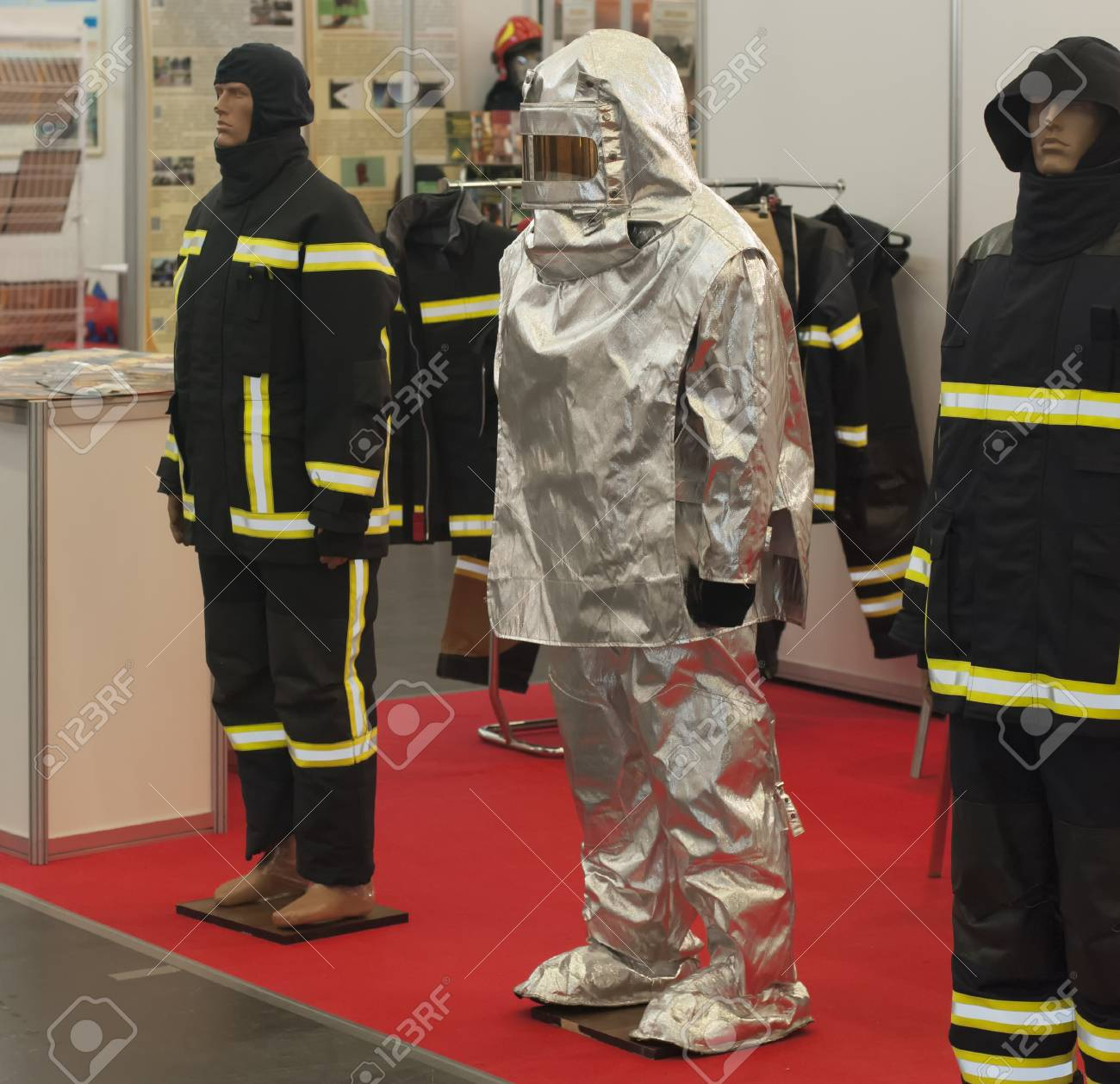 firefighter working clothes (protection from fire uniform) - 116150397
