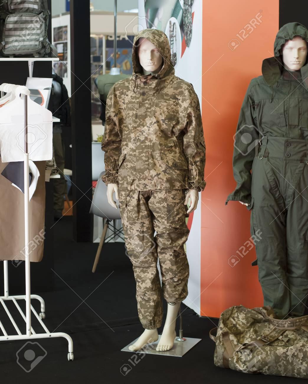 ukrainian soldier military uniform dressed on mannequin - 116150405