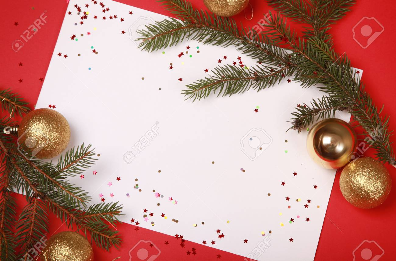 bright background with christmas tree Stock Photo - 5852492
