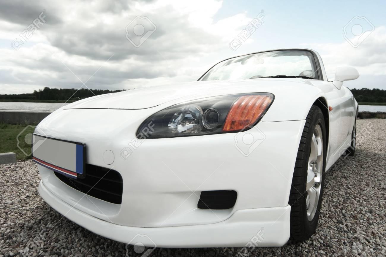 white sport car near the river Stock Photo - 5937193