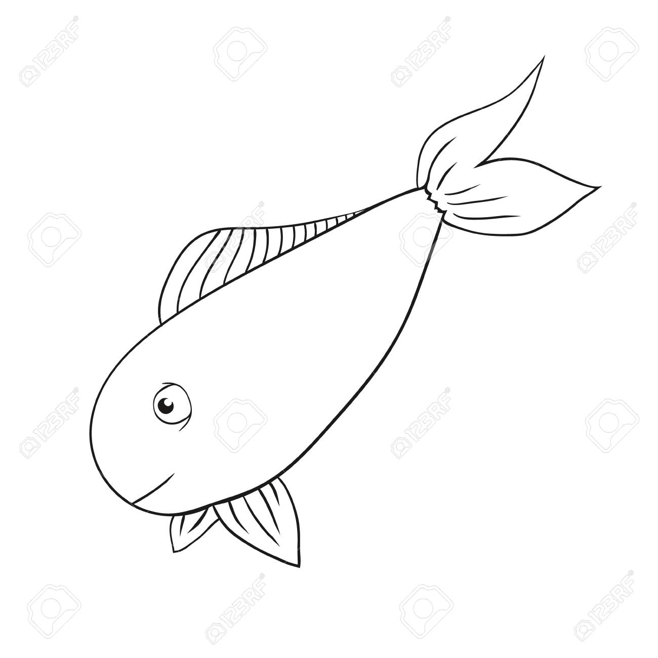 - Vector Hand Drawn Fish - Salmon, Trout, Carp, Tuna. Fish Drawing