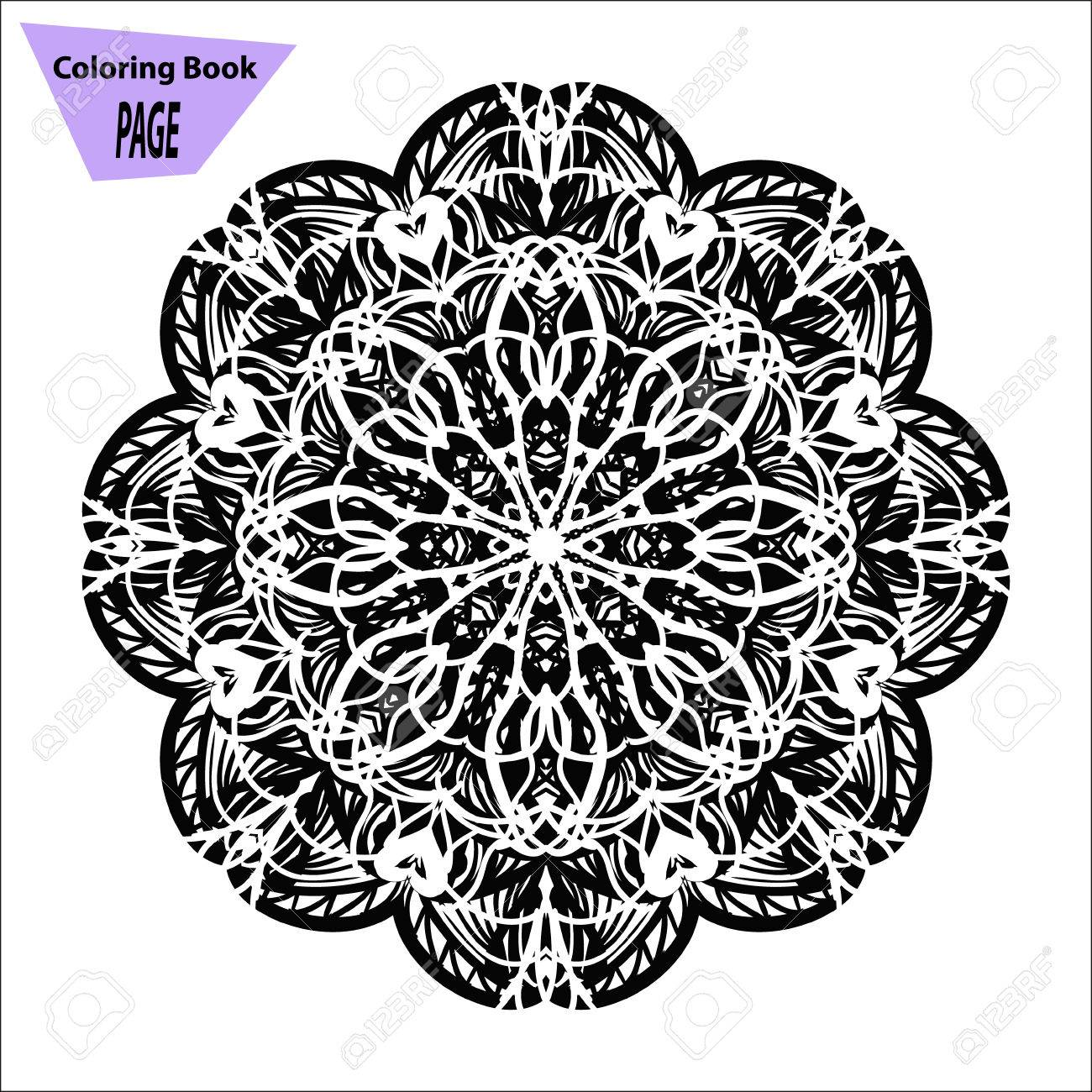 Mandala Coloring Page Vintage Decorative Elements Oriental Royalty Free Cliparts Vectors And Stock Illustration Image 71667000
