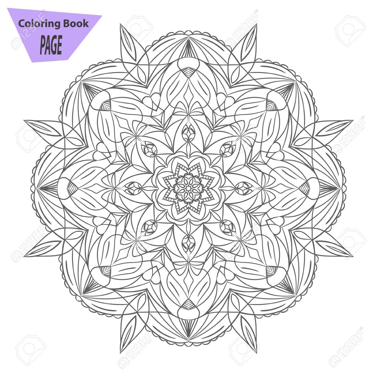 Mandala. Dibujo Para Colorear. Antiguos Elementos Decorativos