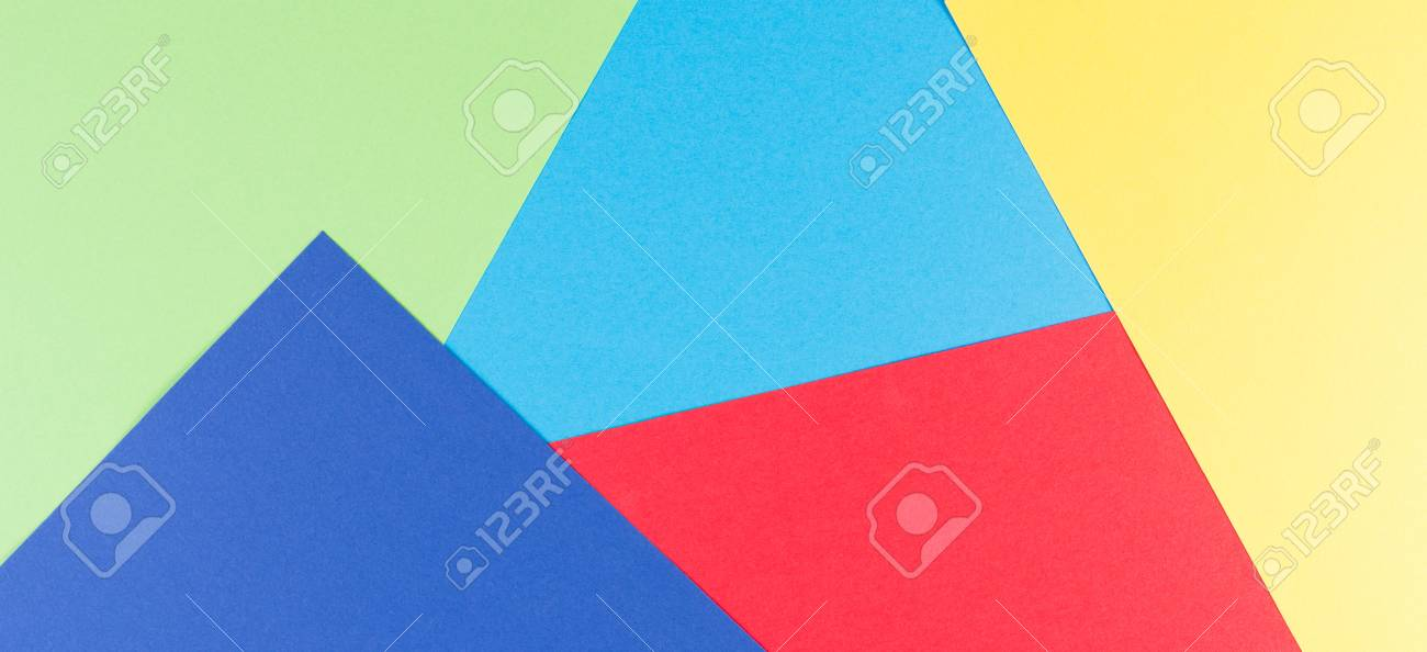 Colored Paper Banner Background. Color Papers Geometry Flat ...