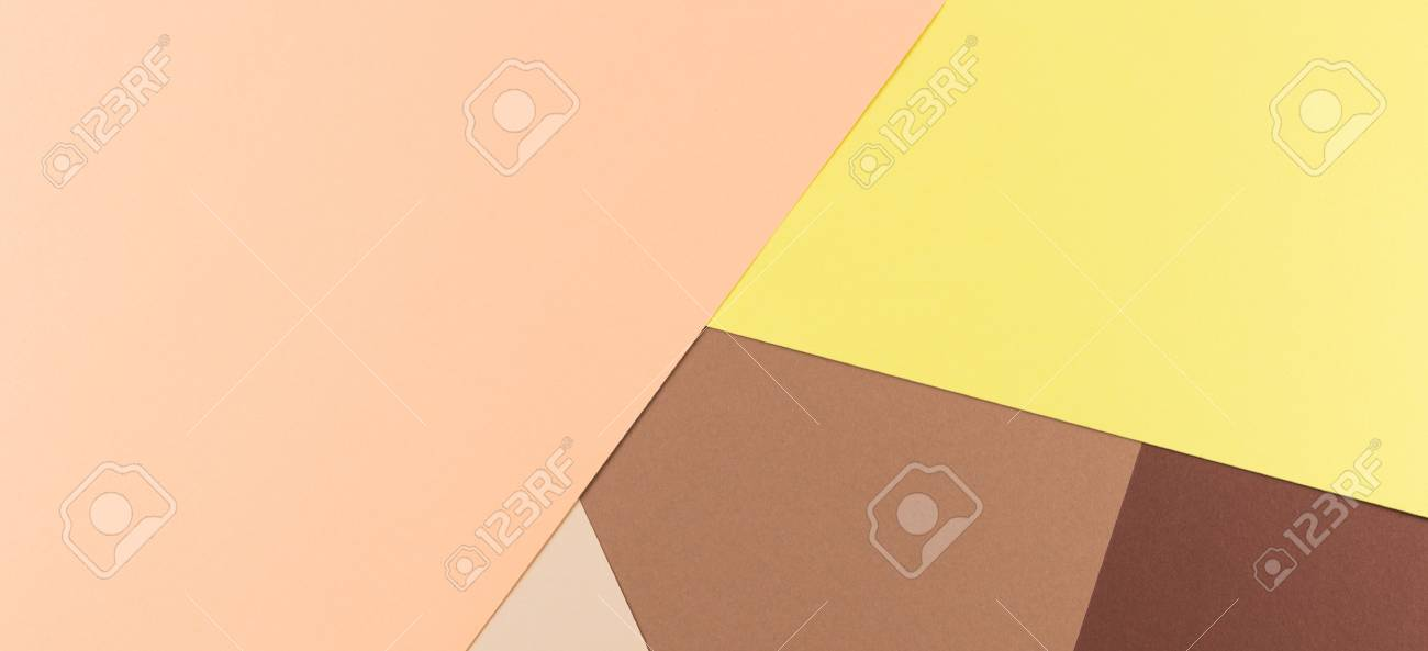 Color Papers Geometry Composition Background With Yellow Pink ...