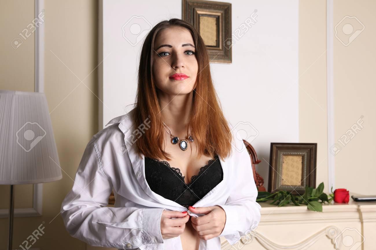 Unbuttoned blouse