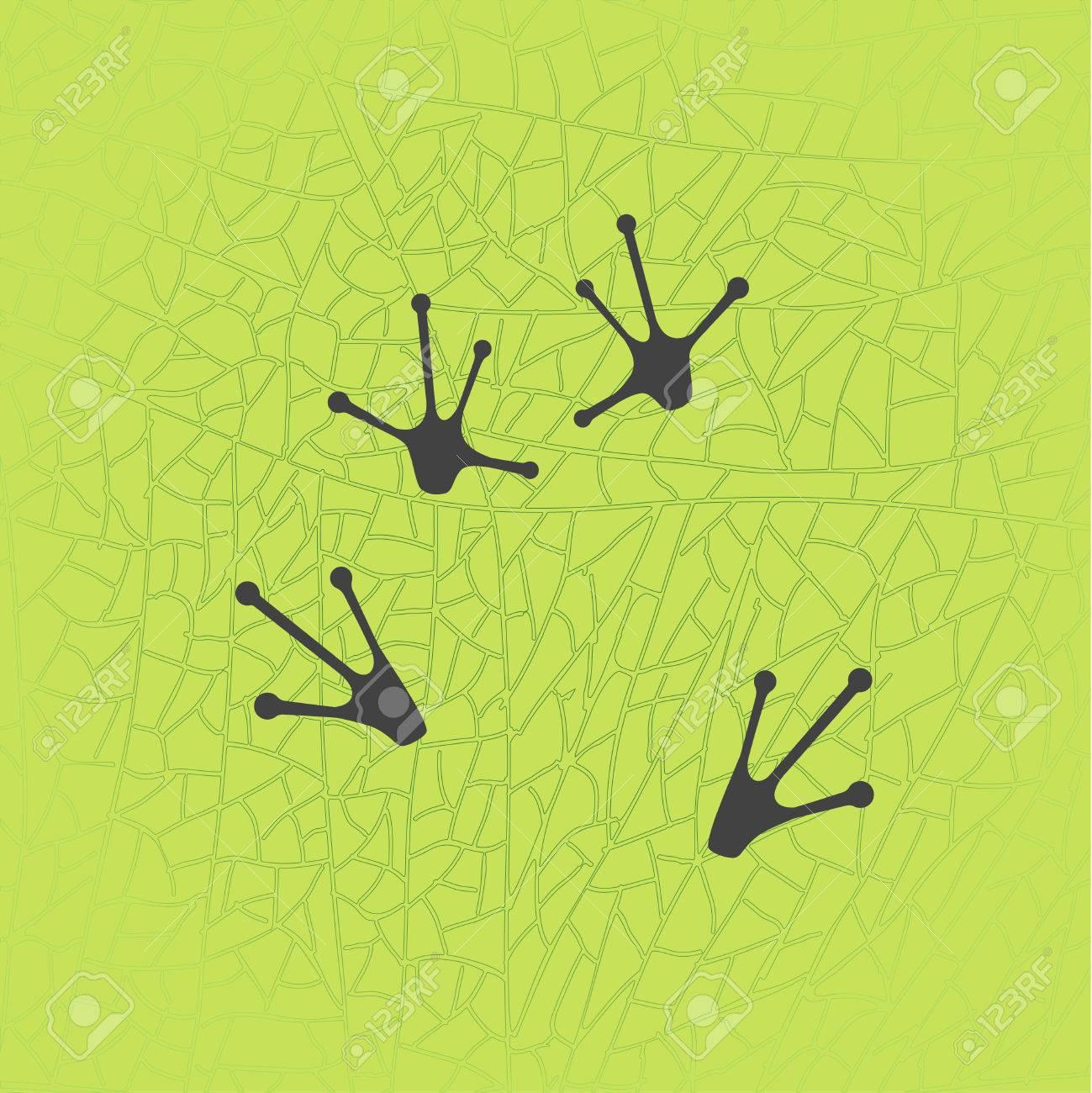 animals footprints frog feet isolated illustration vector rh 123rf com Snake Footprints Alligator Footprints