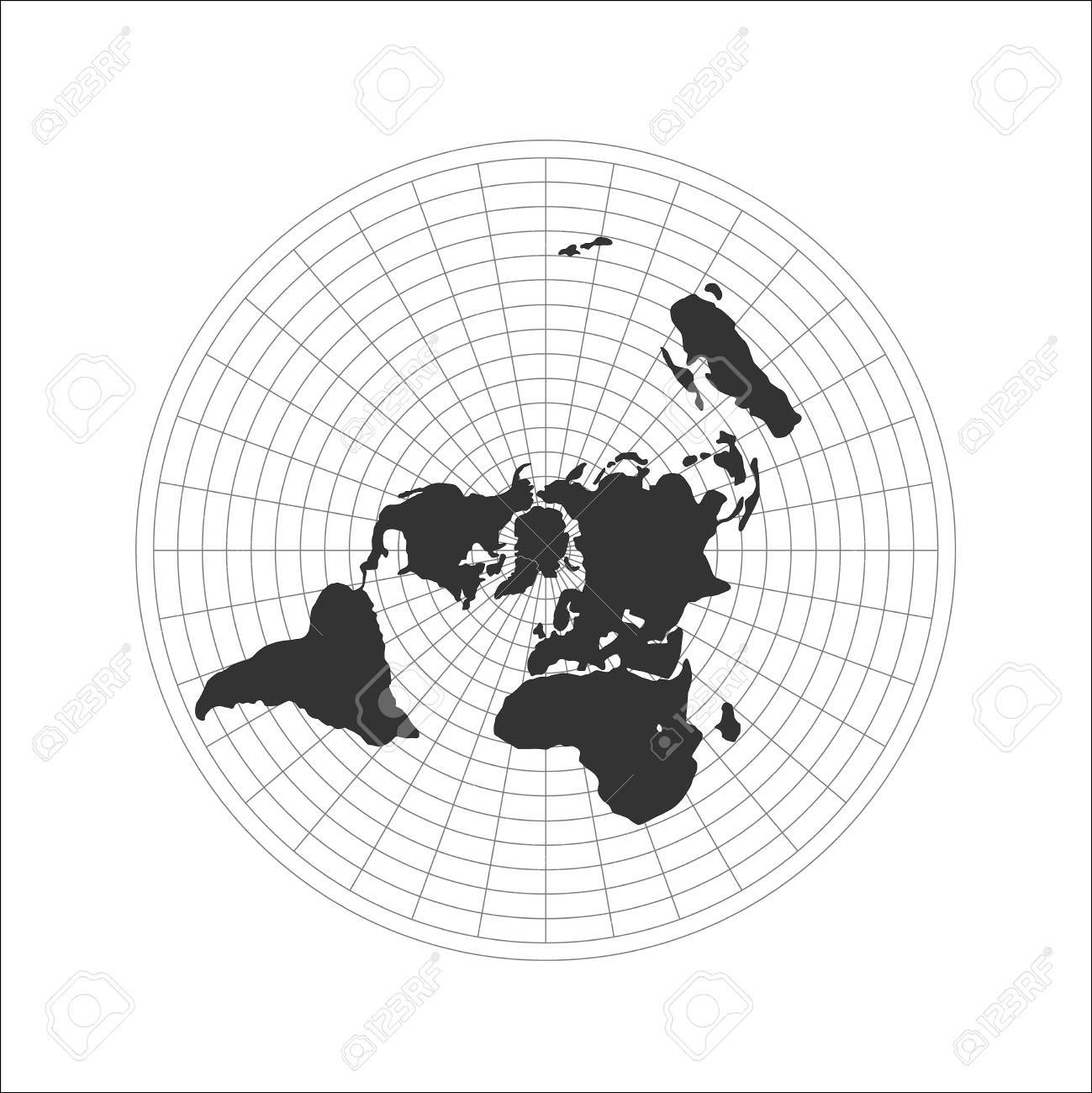 Flat earth map logo vector illustration royalty free cliparts flat earth map logo vector illustration stock vector 81294576 gumiabroncs Images