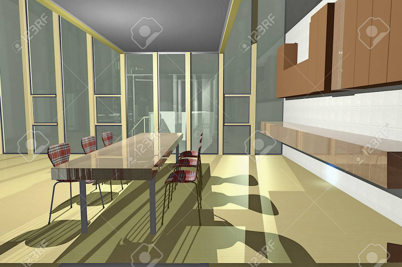 A small kitchen area with open floor plan view of living room kitchen room has