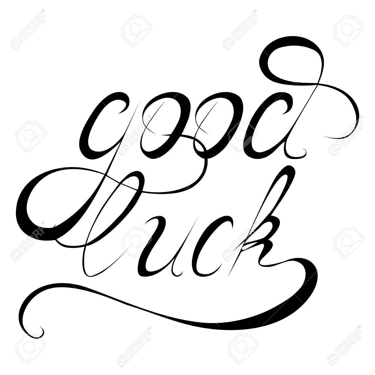 wishing good luck written hand drawn calligraphy vector design rh 123rf com calligraphy vector design calligraphy vector fonts