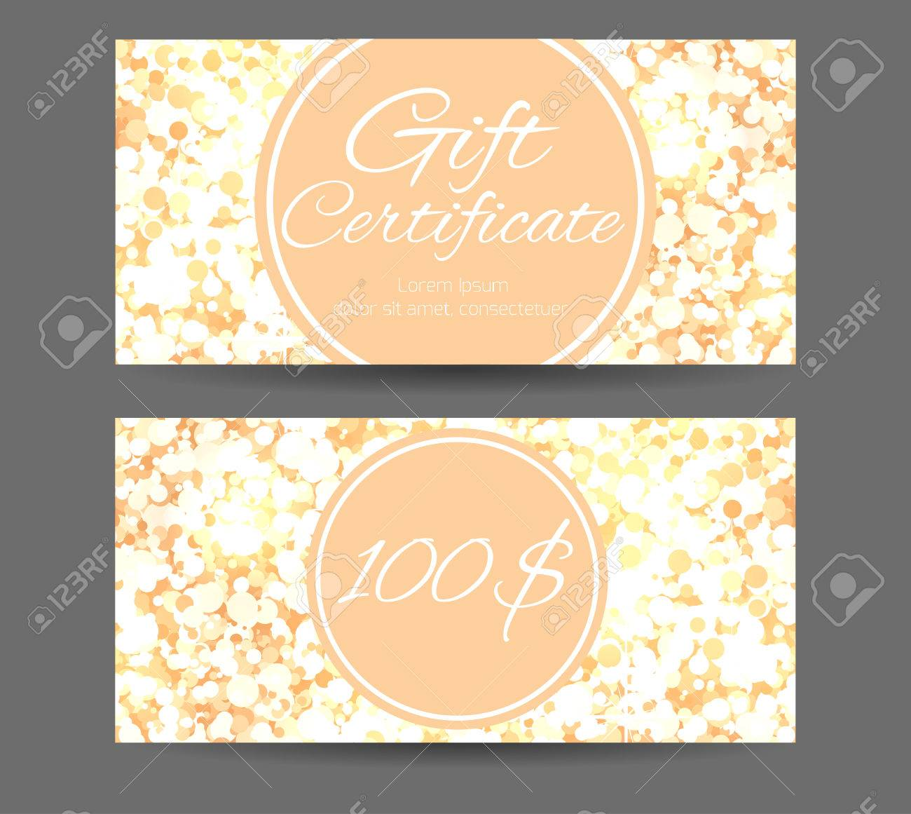 luxury template gift certificate for yoga studio spa center massage parlor beauty salon
