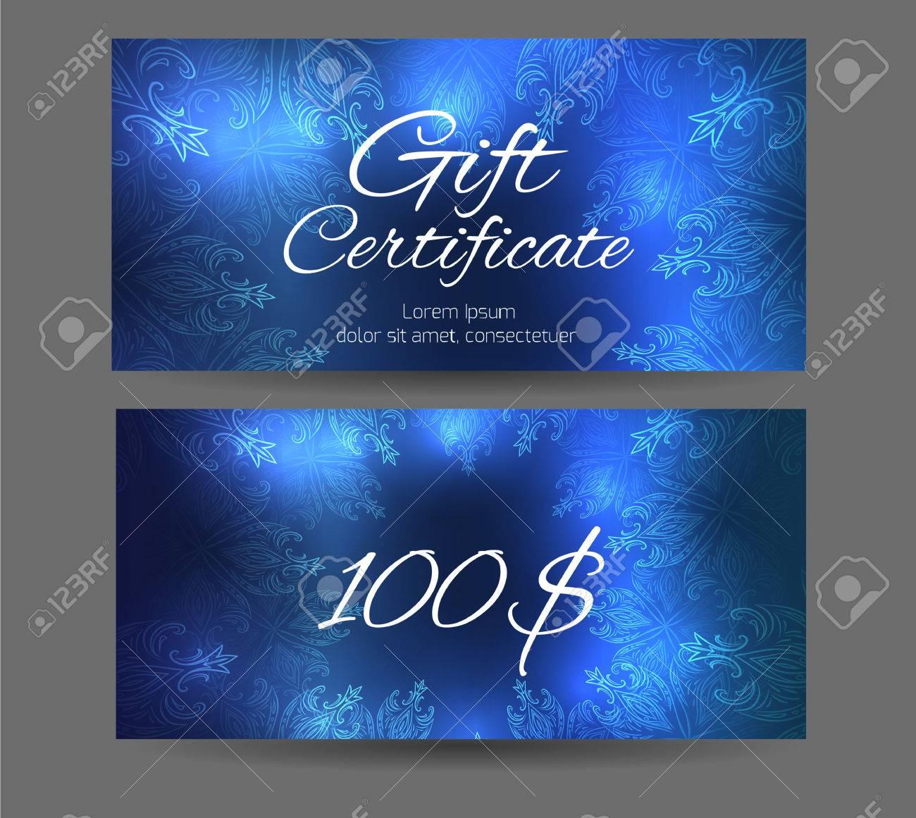 Template Gift Certificate For Yoga Studio Spa Center Massage Parlor Beauty Salon
