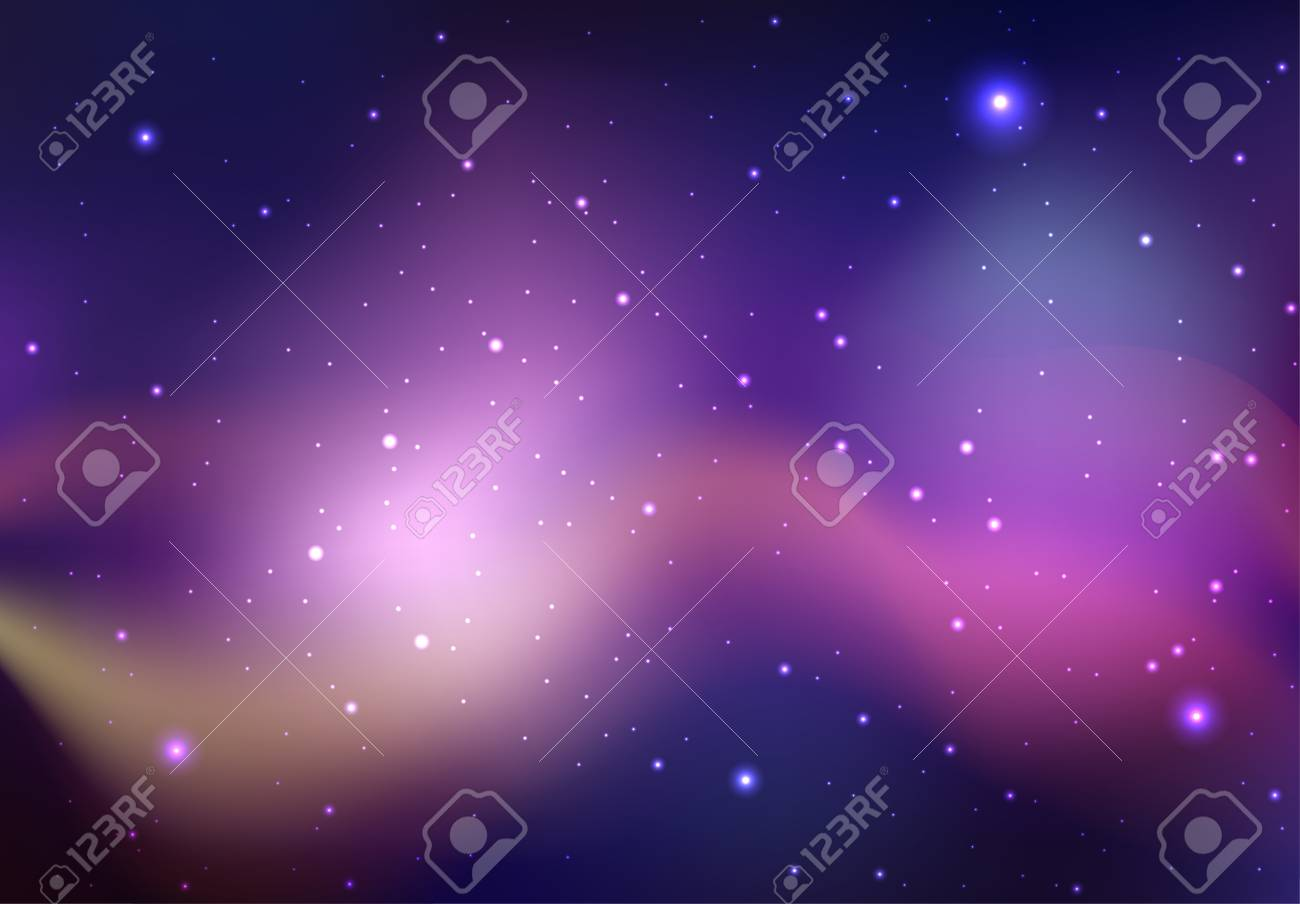 Vector Sfondo Dello Spazio Con Stelle E Nebulosa Sfondo Per La Tua