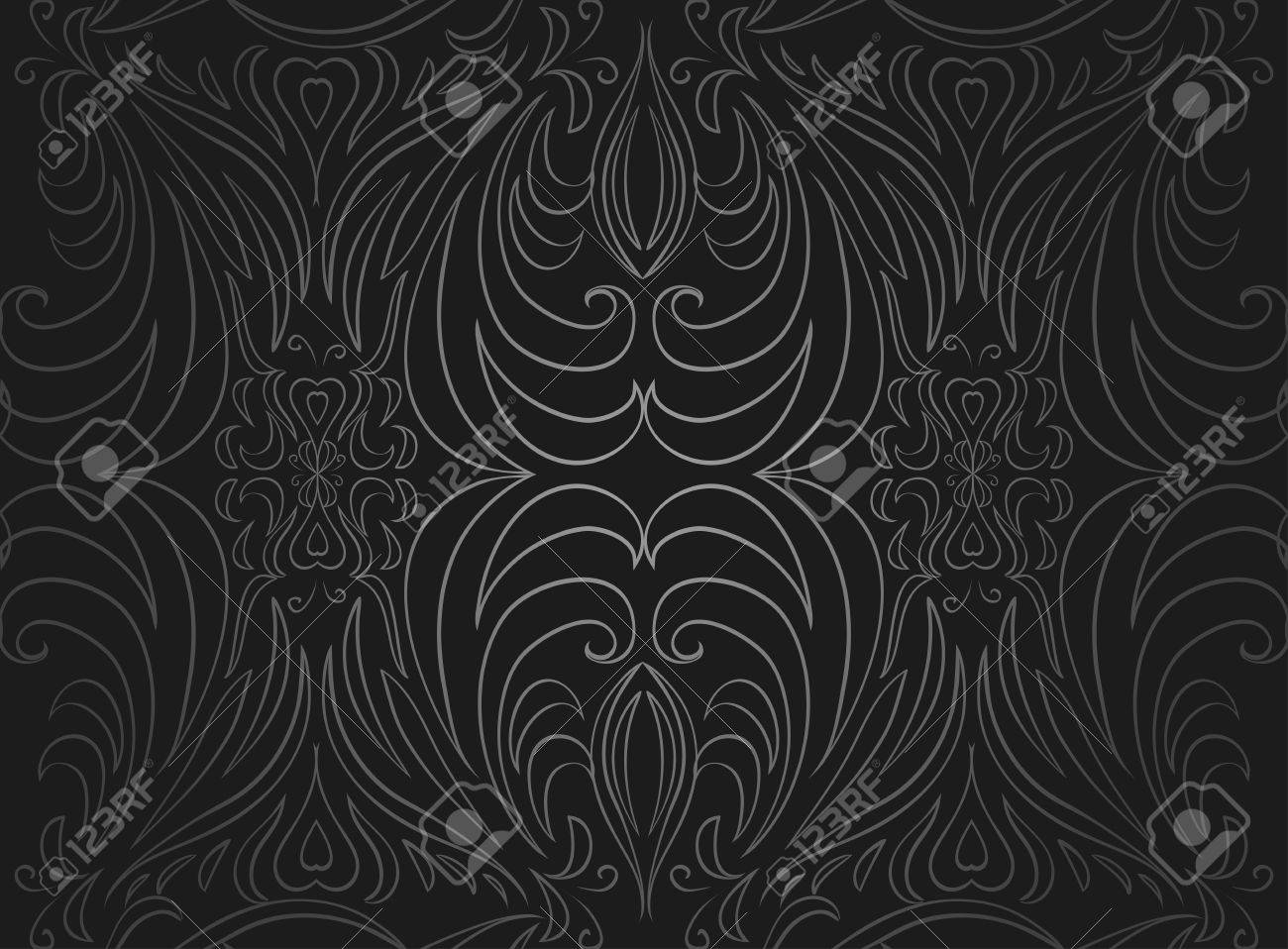 Seamless Black And Gray Vintage Texture. Vector Pattern For Design ... for Black Curtains Texture  110zmd