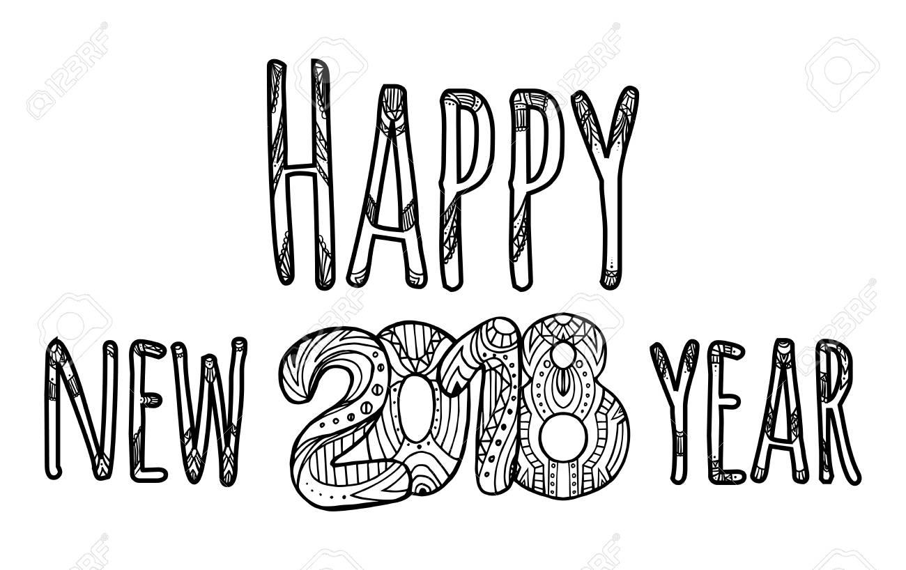 Glückwunsch Inschrift. Frohes Neues Jahr. Vektorelement Mit Einem ...