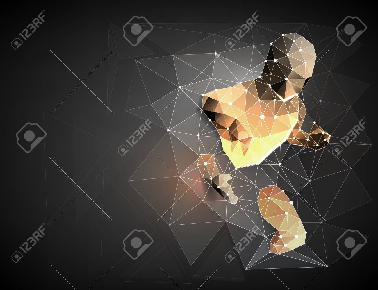 Cyborg. Robot. A man who has rushed out of the net, Network connection turned into. Symbolizing the meaning of artificial intelligence and big data. vector illustration - 110774235
