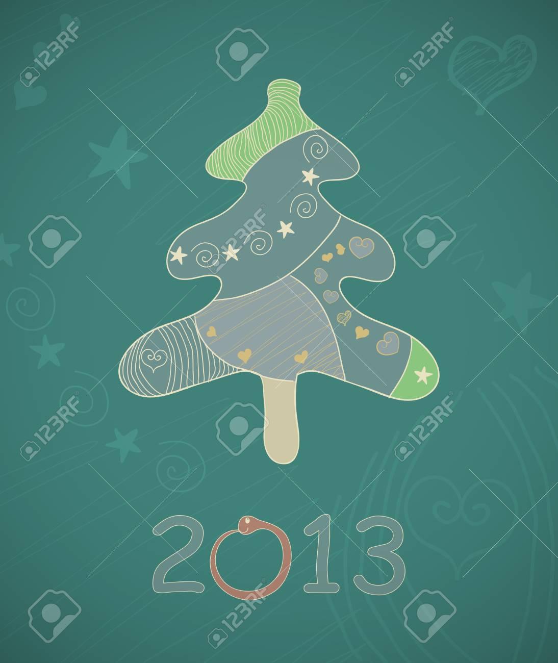 Abstract  Christmas tree. Stock Vector - 17031565
