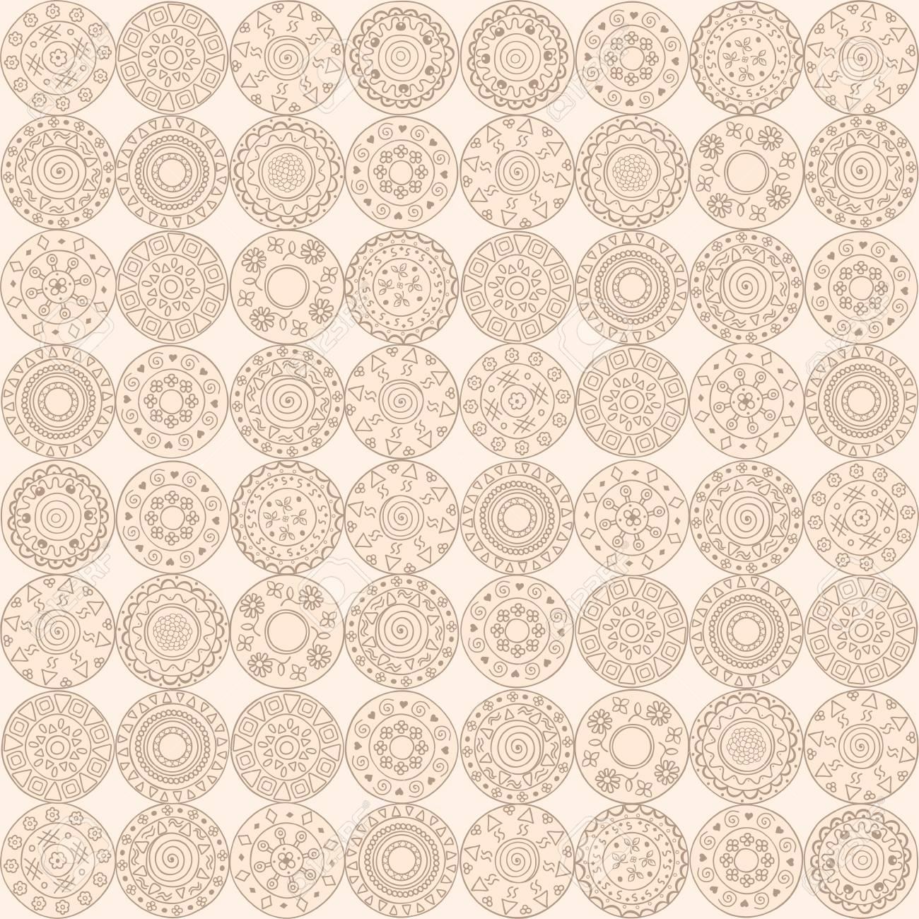 circles seamless pattern elements. Stock Vector - 18594691