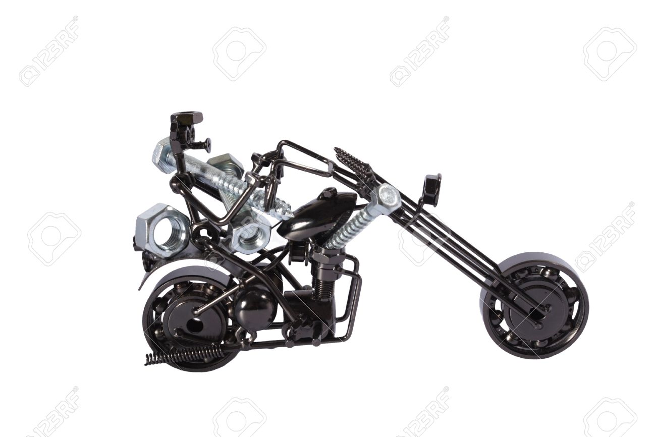 Toy  motorbike with  bolts and nuts Stock Photo - 13720054