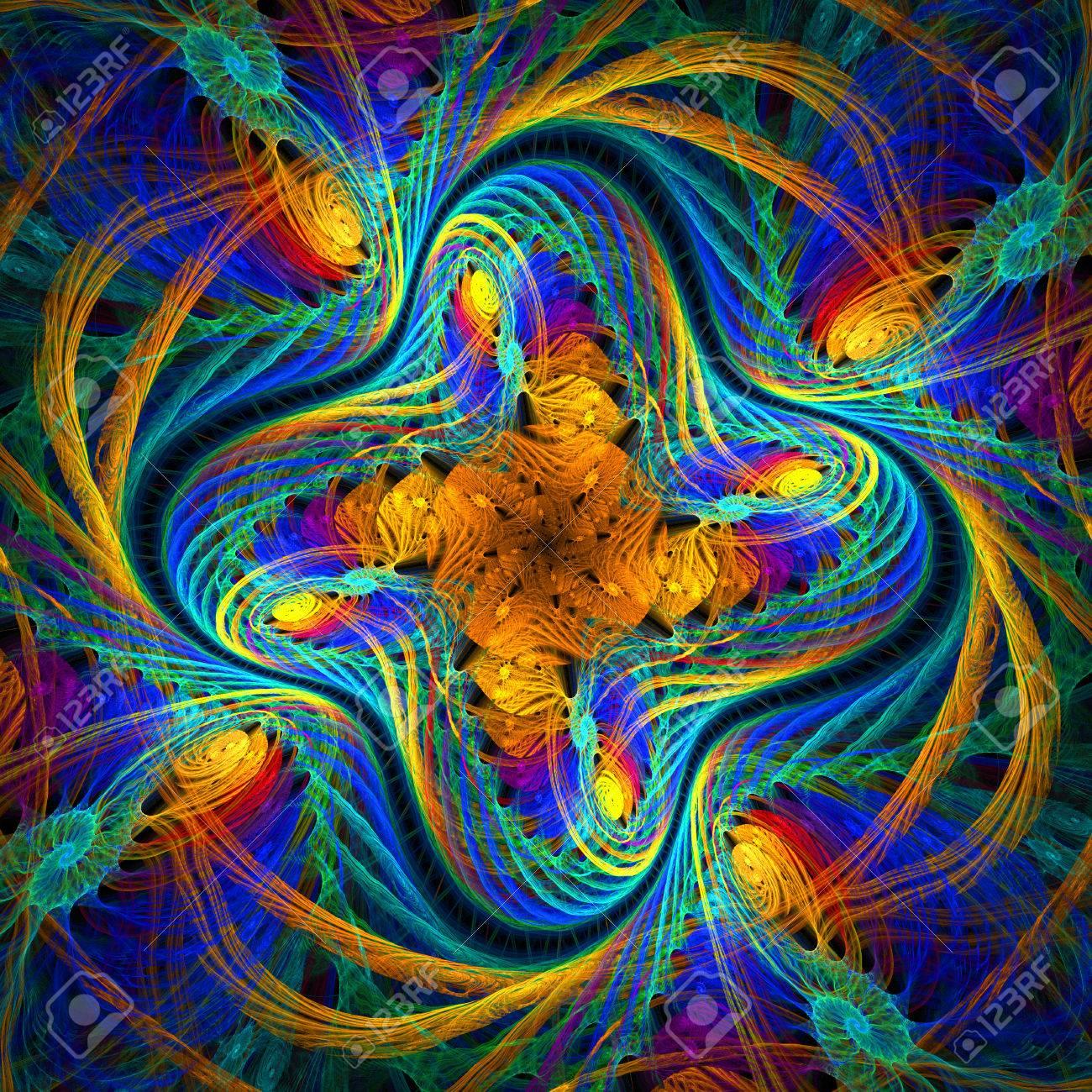 Schone Fraktale Muster Im Stil Der Strickware