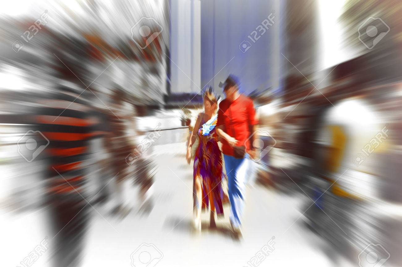 Abstract Background Pedestrians Walking Rush Hour In Barcelona Stock Photo Picture And Royalty Free Image Image 41811103