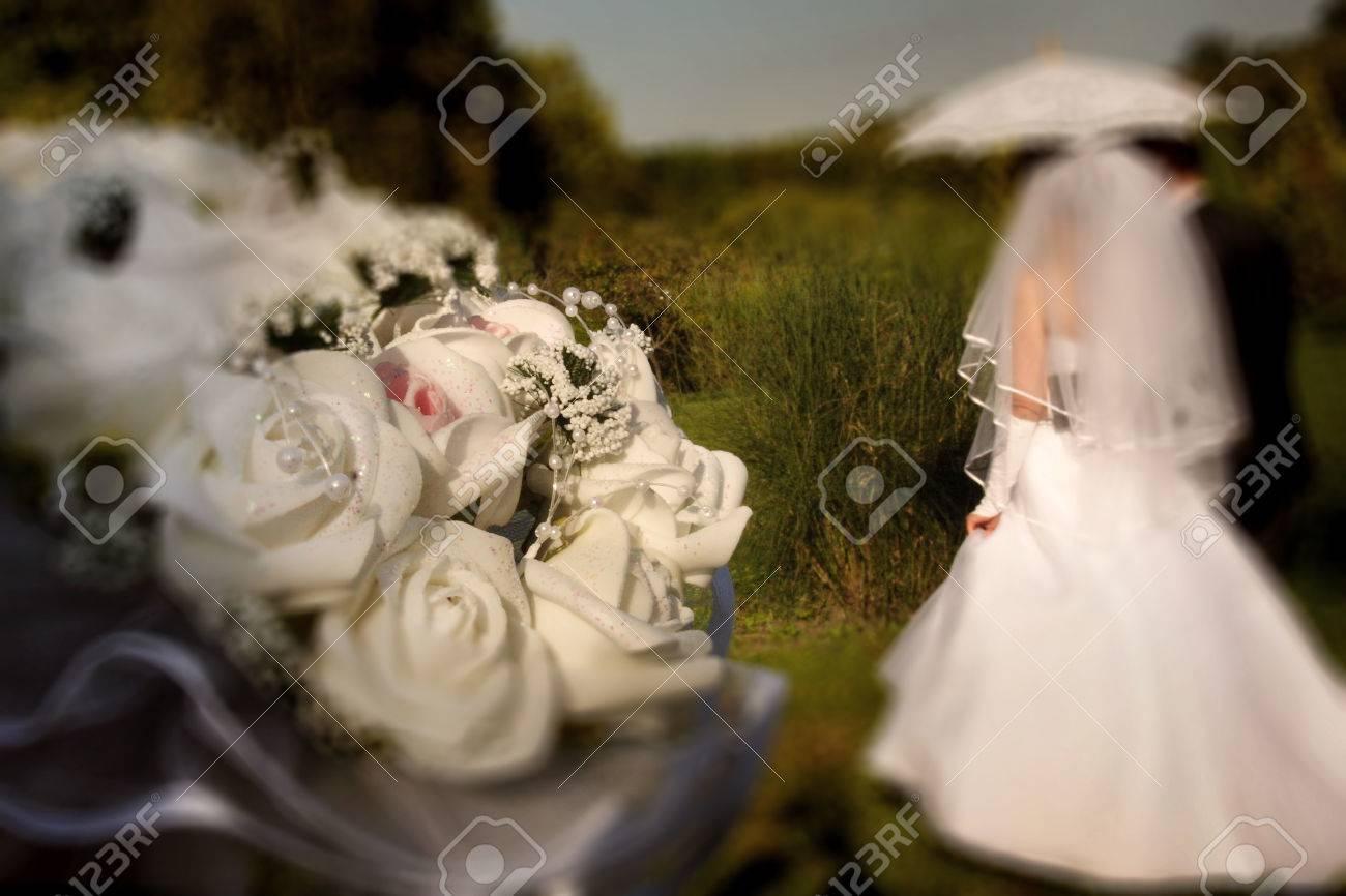 Abstrakter Hintergrund Hochzeit Radial Zoom Unscharfeffekt