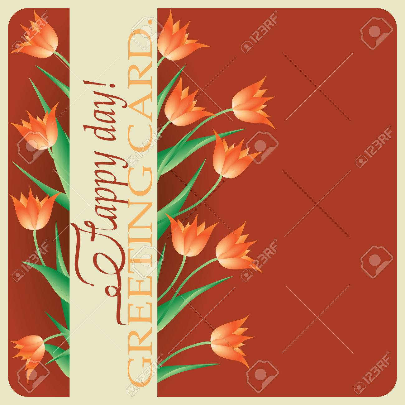 Tulipsspring Greetings Design Greeting Cards Happy Birthday
