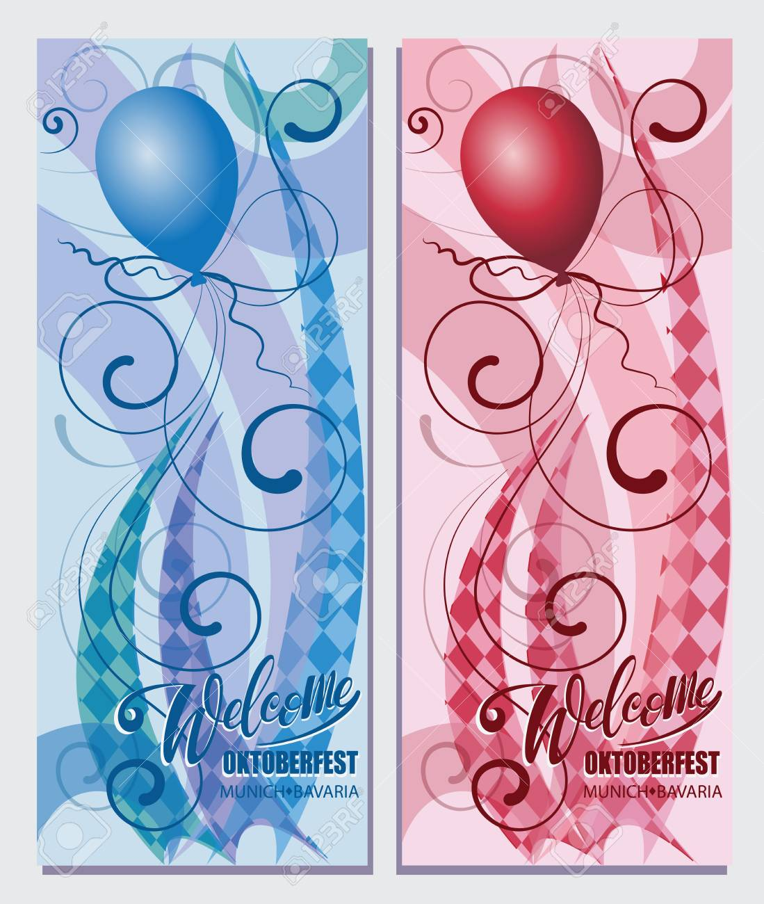 Balloons welcome oktoberfest munich bayern beautiful greeting welcome oktoberfest munich bayern beautiful greeting card with calligraphy red m4hsunfo