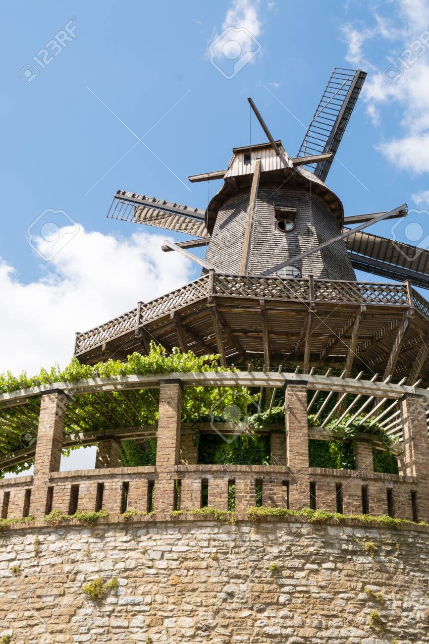 Old Windmill in Sanssouci Park, Potsdam, Germany, Europe Stock Photo - 27917503