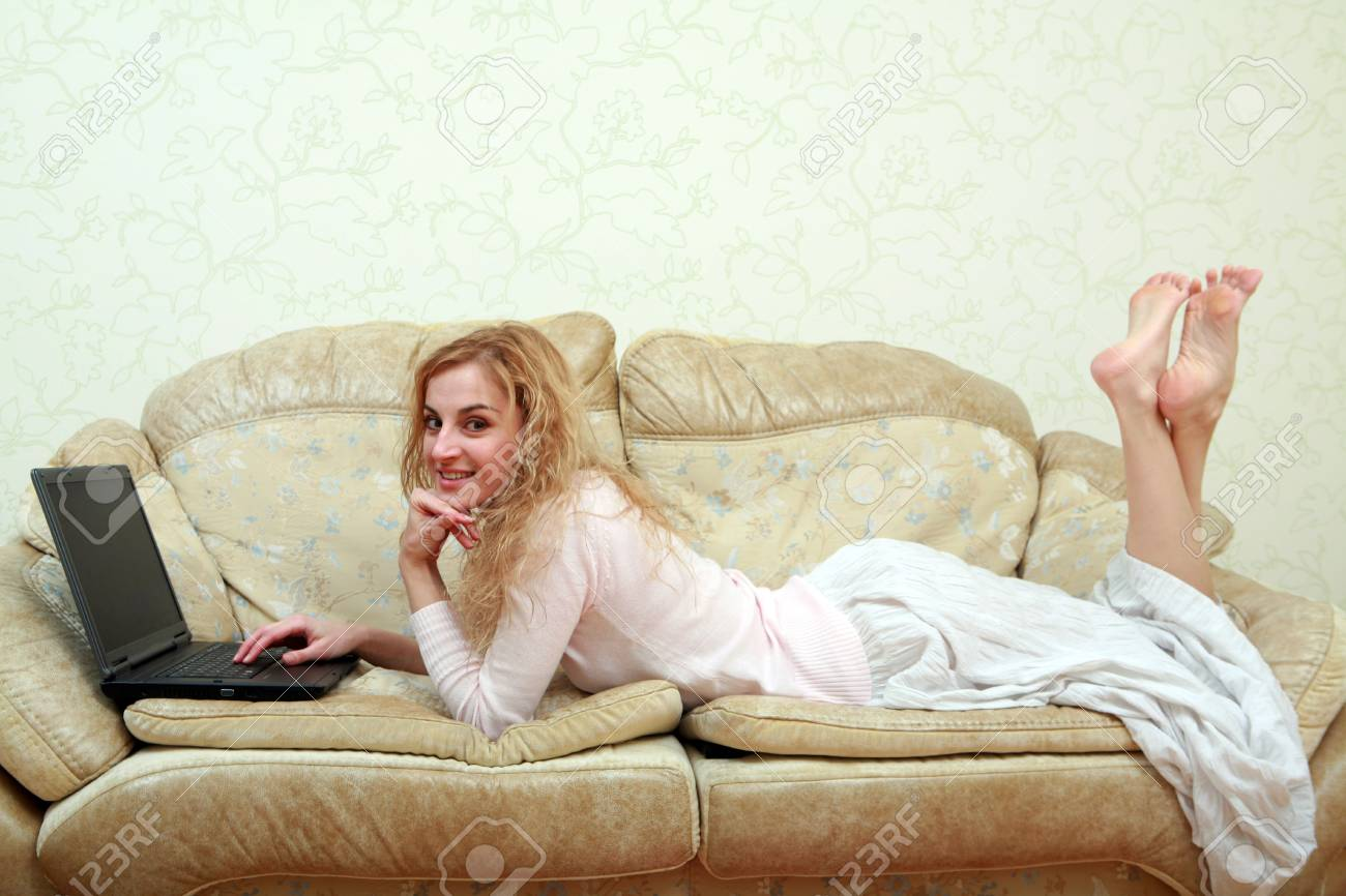 An image of a girl working with laptop Stock Photo - 6156283