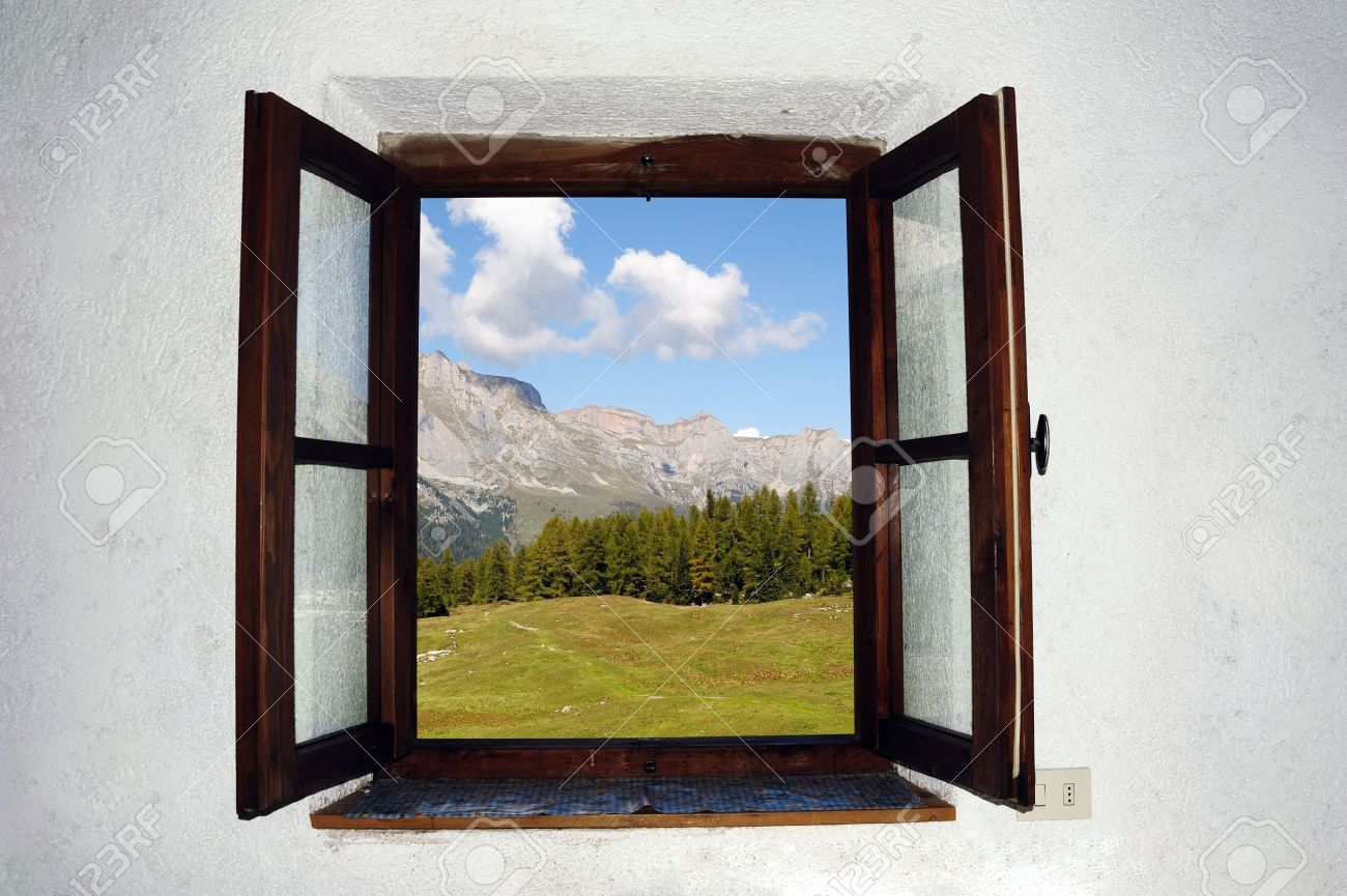 An image of an open window and beautiful picture outside Stock Photo - 11617851