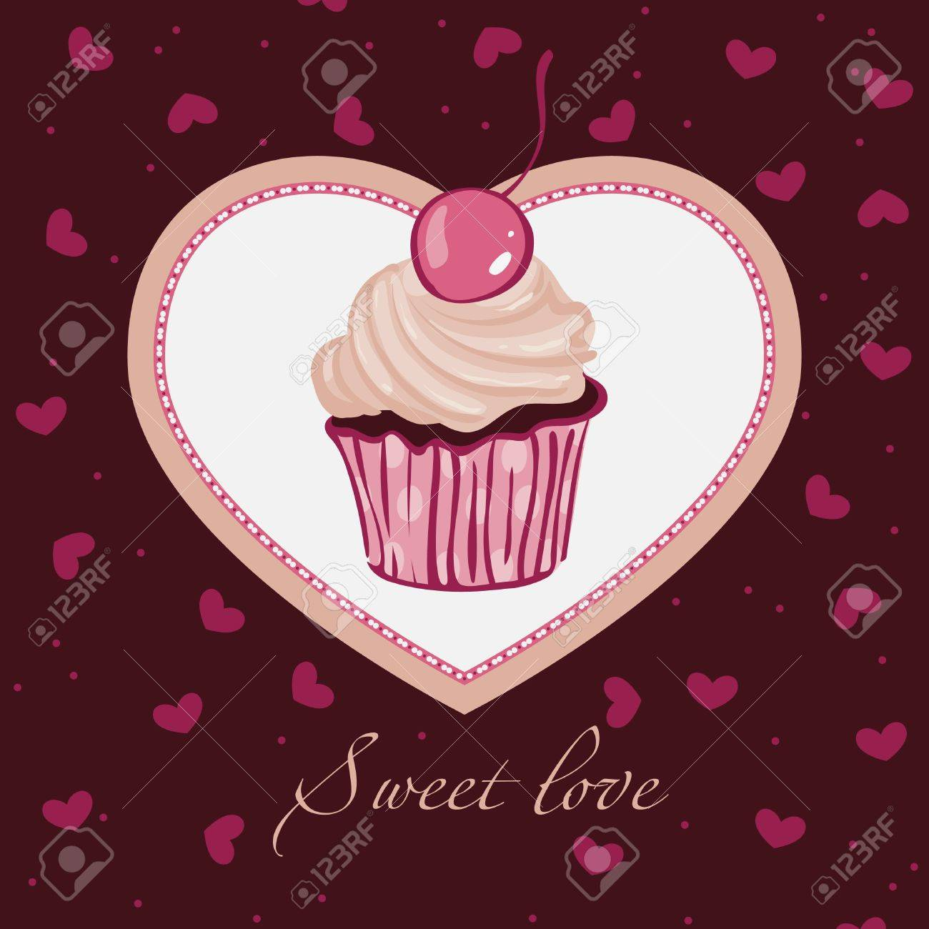Sweet love. For themes like love, valentine's day, holidays. Vector illustration. Stock Vector - 9843392