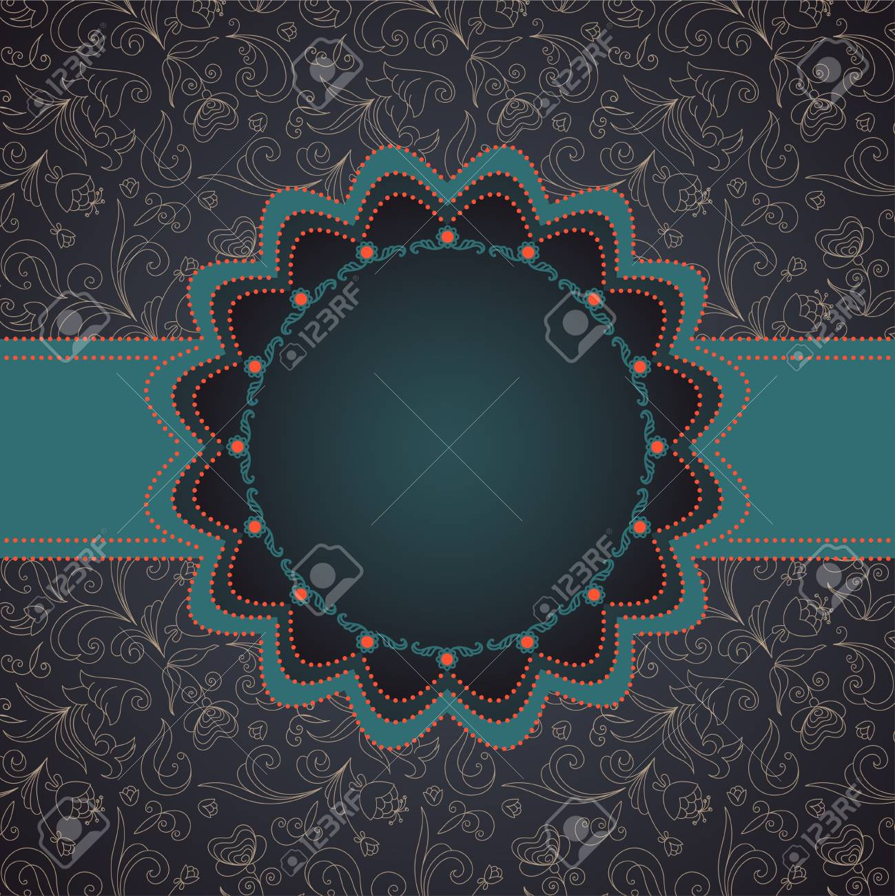Greeting card in grunge or retro style. Stock Vector - 14086723
