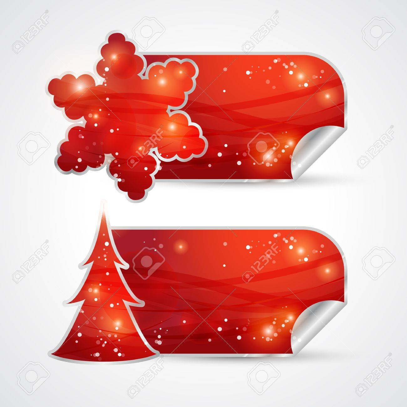 Christmas sticker Stock Vector - 16279459