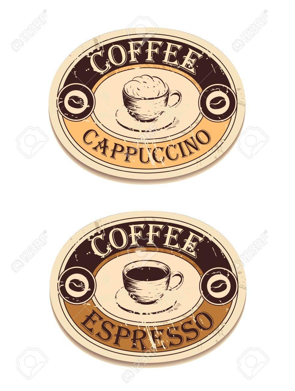 Vintage label coffee Stock Vector - 18441729