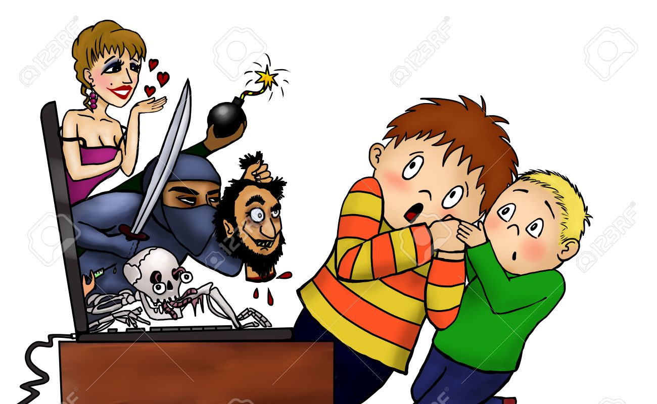 scared liitle boys react internet laptop internet safety for rh 123rf com Computer Safety Clip Art Computer Safety Clip Art