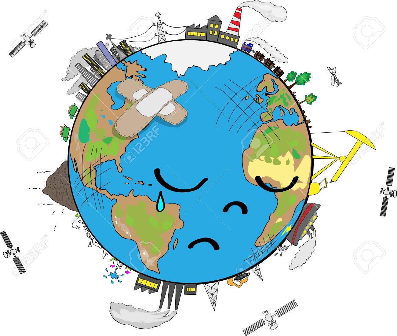 sad planet earth cartoon royalty free cliparts vectors and stock rh 123rf com cartoon of the earth cartoon of the earth