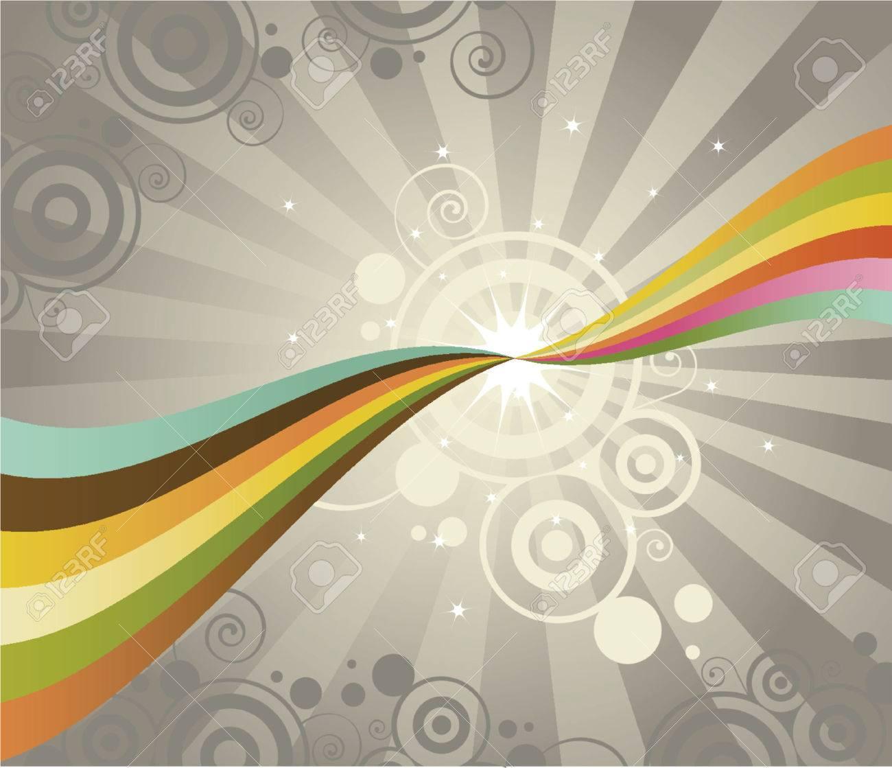 Dos Puntos De Contacto Con El Arco Iris, Creando Una Brillante ...