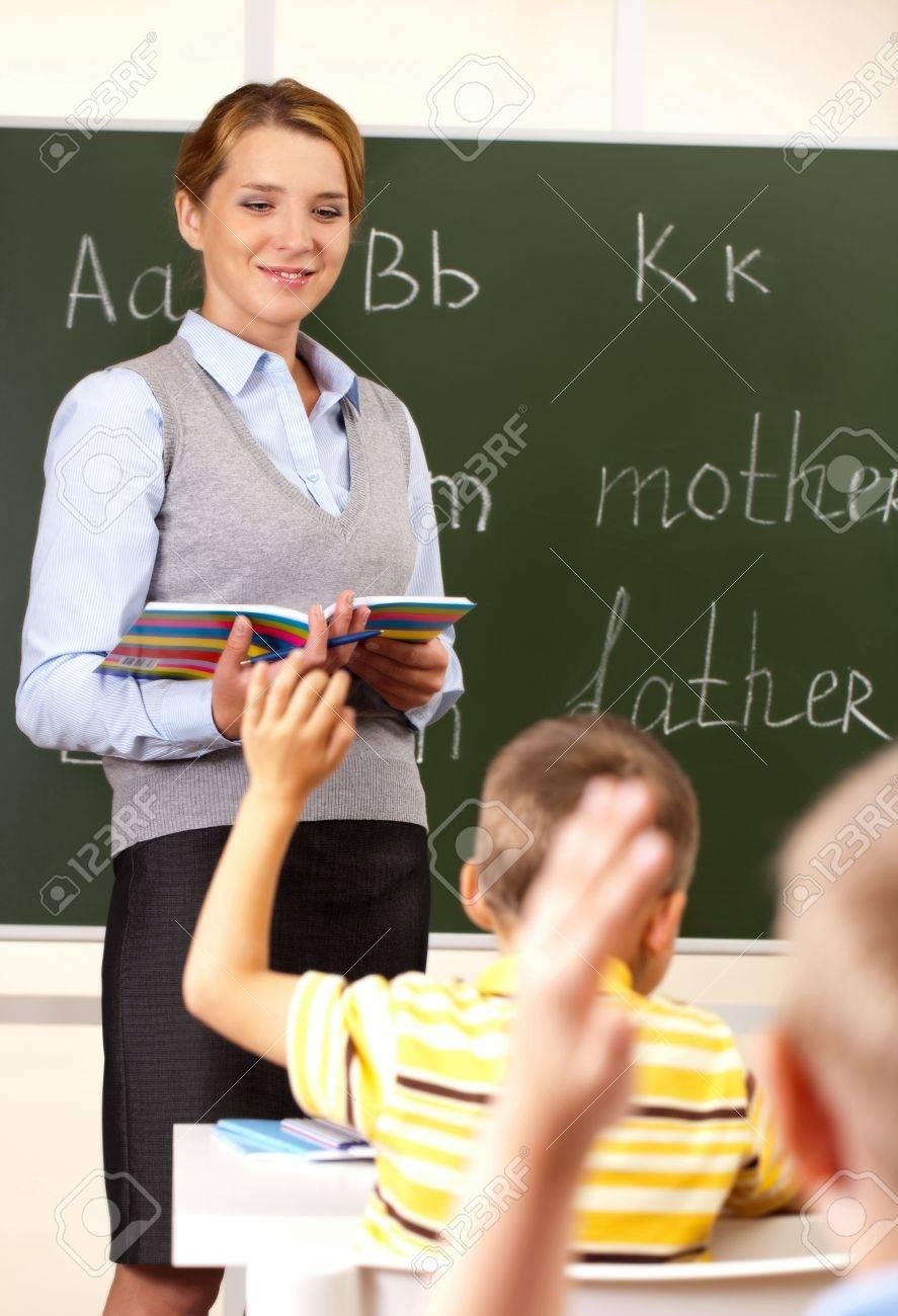 À l'école avec le professeur