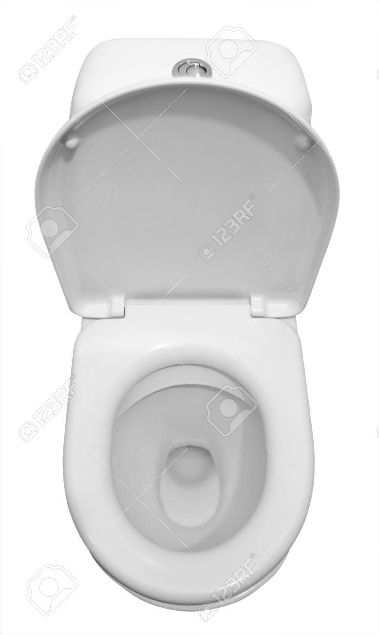 White ceramic toilet isolated on a white background. Stock Photo - 8810062