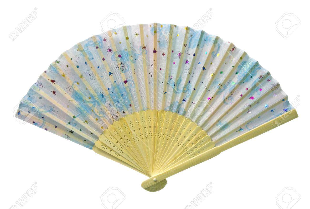 Asian Fan isolated on white. Clipping Path included. Stock Photo - 9806833