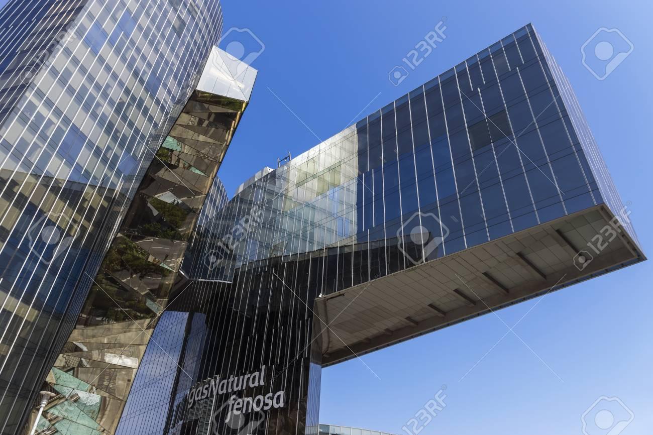 Barcelone espagne le juillet immeuble de bureaux de gas