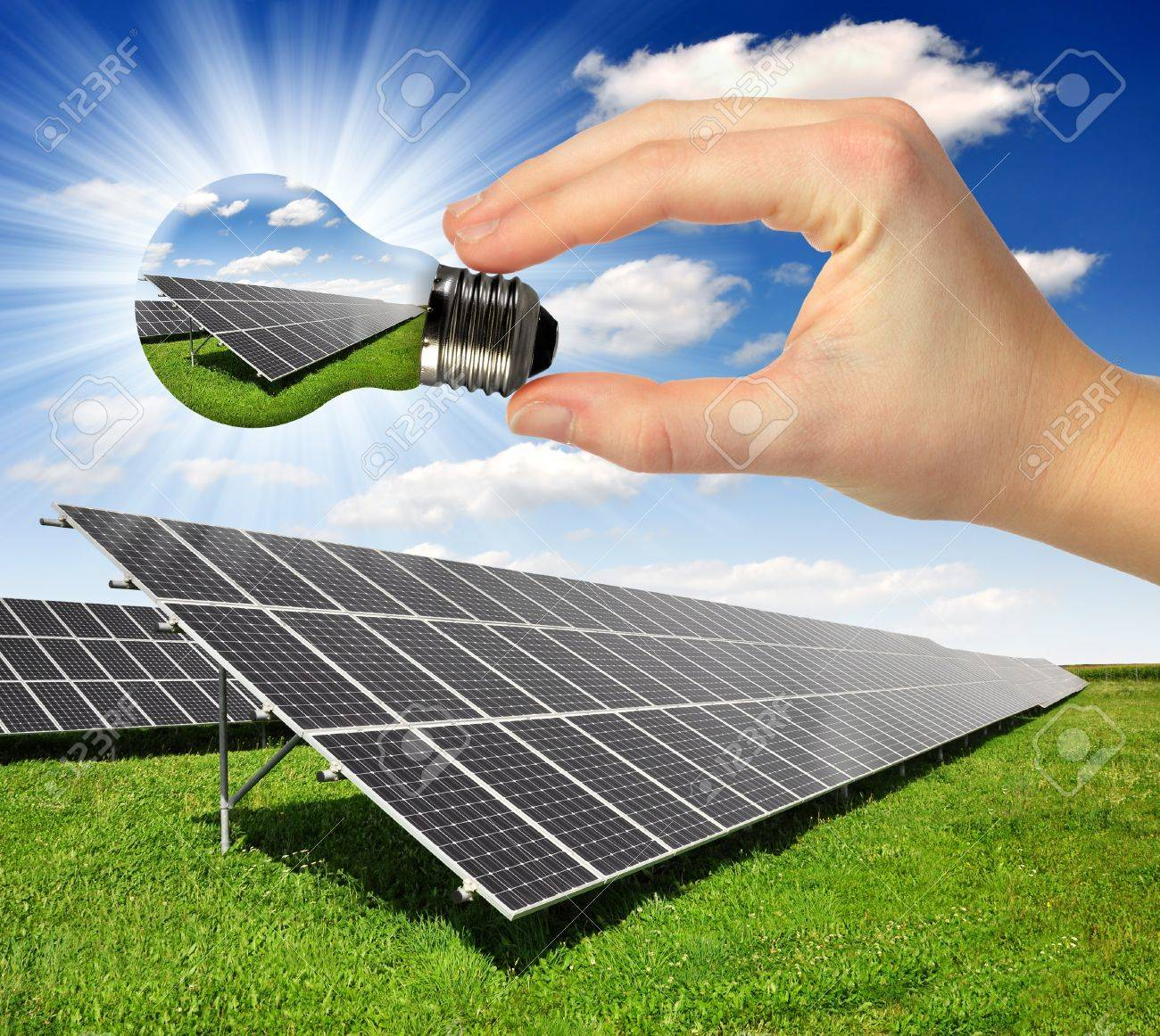 Bulb with of solar panel - 14126383