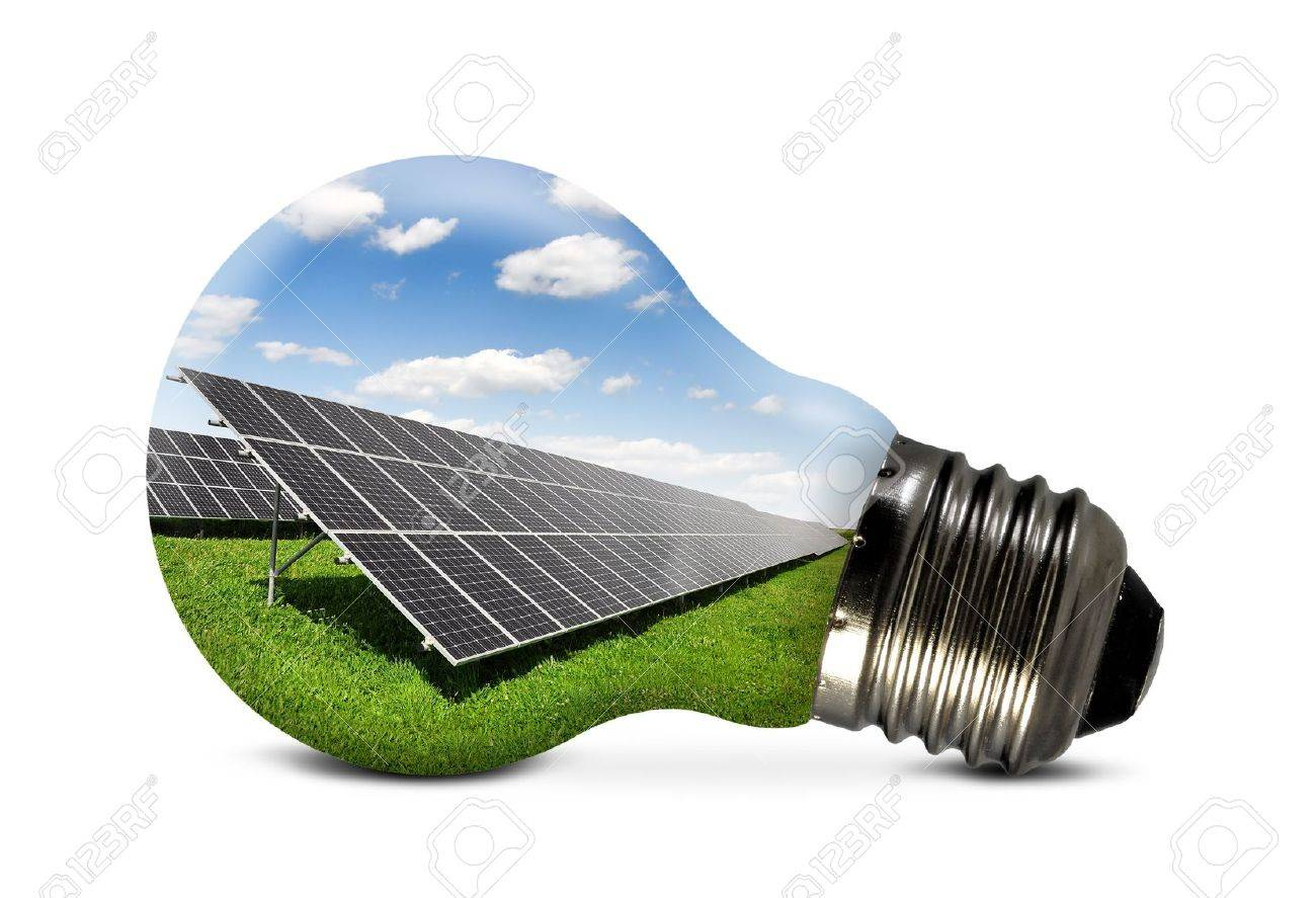 Bulb with of solar panel - 14367057