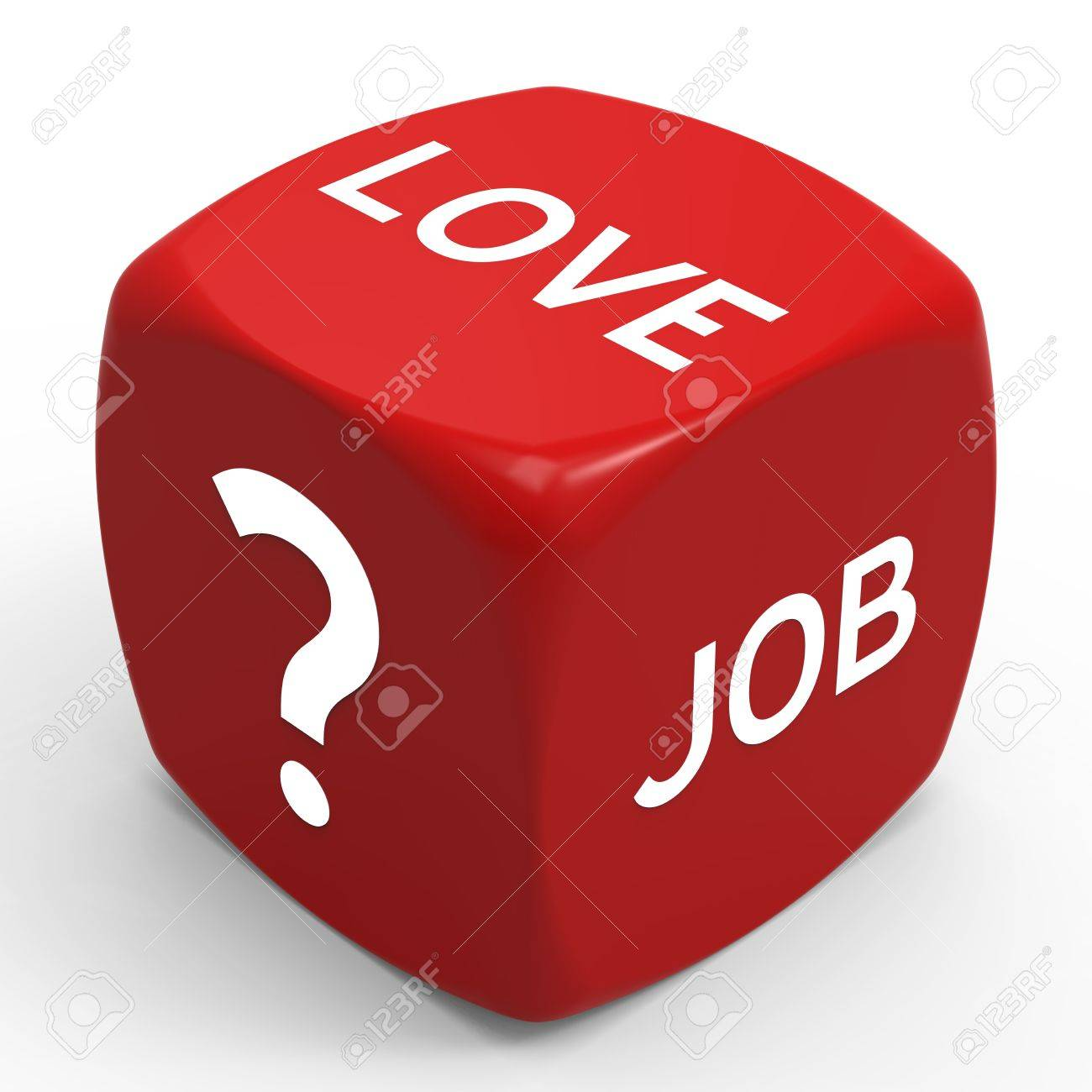 Love or Career - How to Make the Right Choice Stock Photo - 19093376
