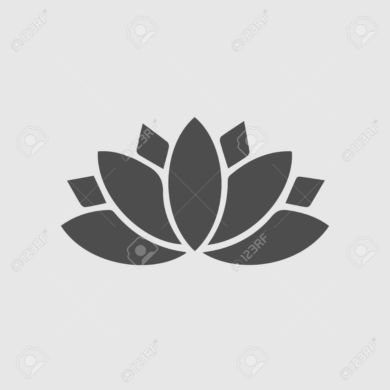 Lotus Flower Vector Icon Eps 10 Spiritual Simple Silhouette