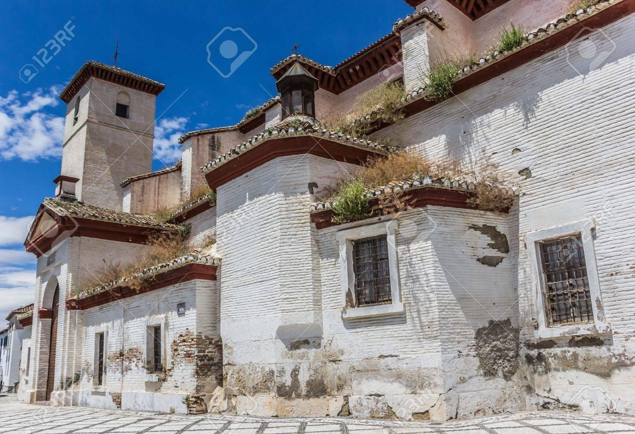 San Nicolas church in old Granada moorish quarter