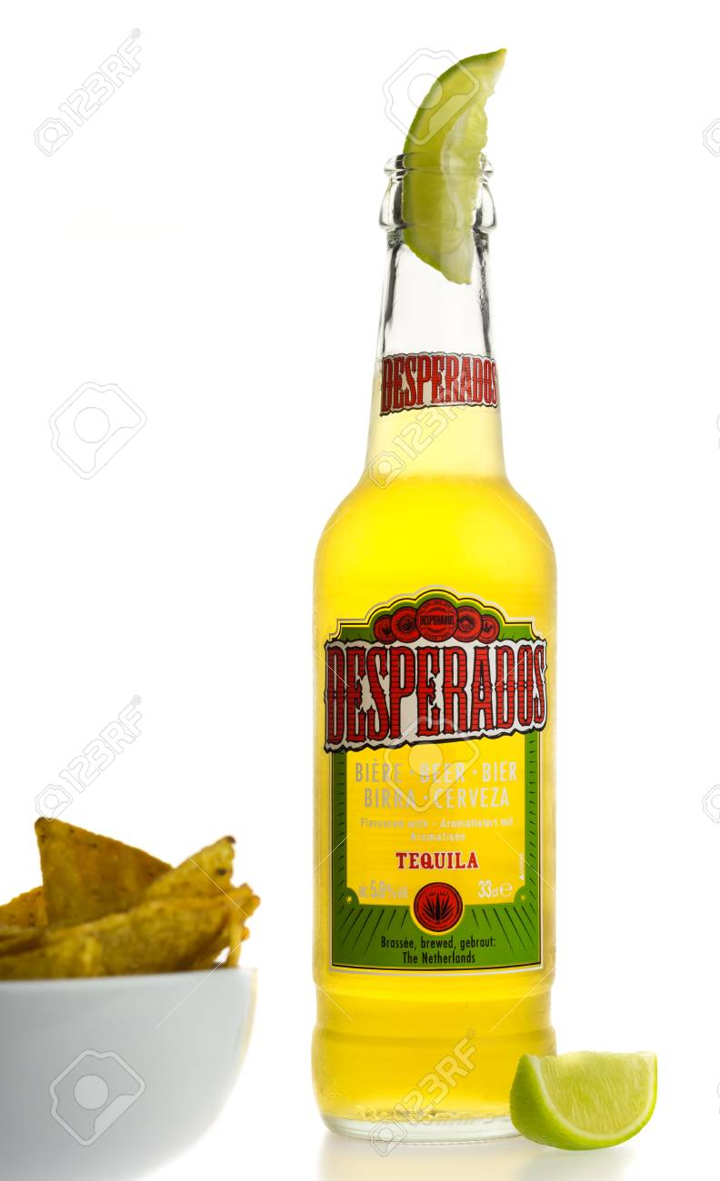 Bottle Of Mexican Desperados Tequila Beer With Lime Wedge And Stock Photo Picture And Royalty Free Image Image 73738362