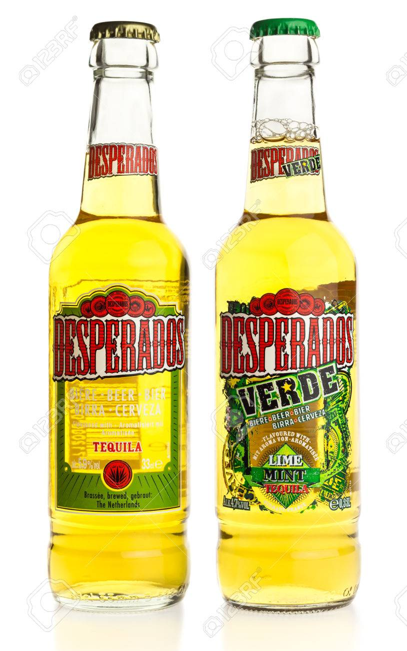 Bottle Of Mexican Desperados Tequila And Verde Beer Isolated Stock Photo Picture And Royalty Free Image Image 73738364