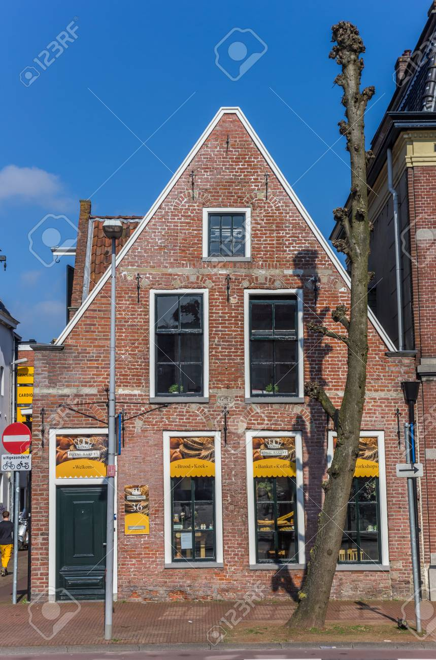 Old Bakery Shop In The Historic Center Of Groningen Holland Stock Photo
